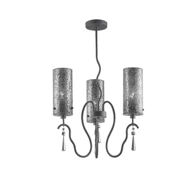 Haley 3-Light Shaded Chandelier Shade Color: Mirror