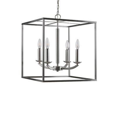 Dearmond 4-Light Foyer Pendant Finish: Satin Nickel