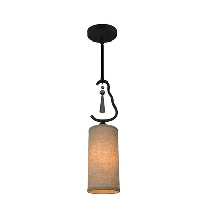 Haley 1-Light Mini Pendant Shade Color: Beige