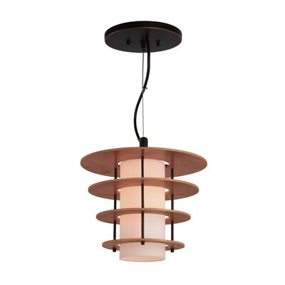 Layers 1-Light Mini Pendant Finish: Bronze