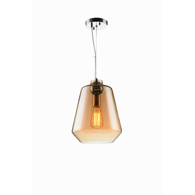 Sanoma 1-Light Mini Pendant Shade Color: Amber