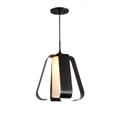 Bent 1-Light Mini Pendant Finish: Metallic Bronze