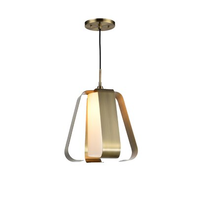 Bent 1-Light Mini Pendant Finish: Brushed Brass