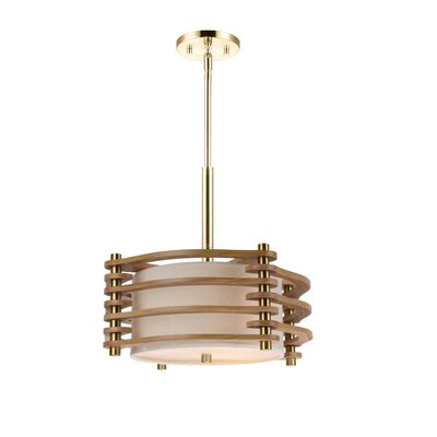 Steps 3-Light Drum Pendant Finish: Brushed Brass