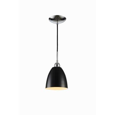 Vento 1-Light Mini Pendant Shade Color: Black