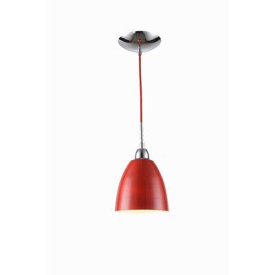 Vento 1-Light Mini Pendant Shade Color: Red