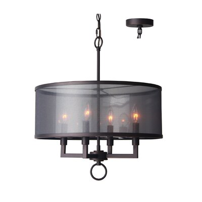 Jamison 4-Light Drum Chandelier Finish: Metallic Bronze