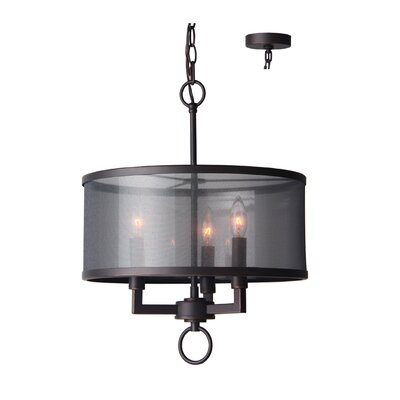 Jamison 3-Light Drum Chandelier Finish: Metallic Bronze