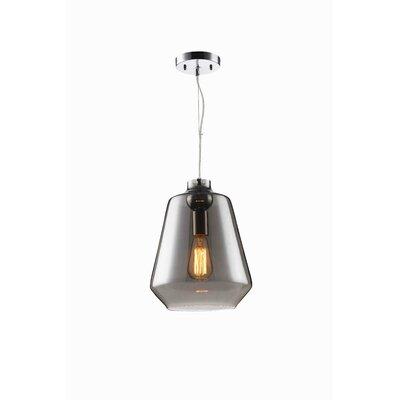 Sanoma 1-Light Mini Pendant Shade Color: Black