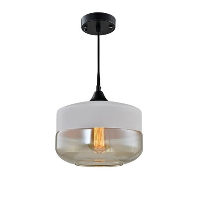 Fuse 1-Light Pendant Shade Color: White
