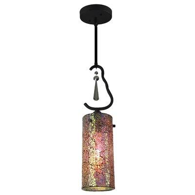 Haley 1 Light Mini Pendant Shade Color: Iridescent 14223BLK-M10IRI