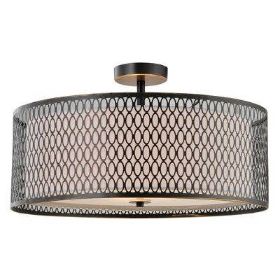 Ferrigno Semi-Flush Mount Finish: Bronze