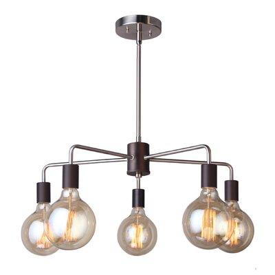 Ethan 5-Light Sputnik Chandelier Finish: Brushed Brass/Bronze