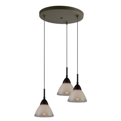 Lucia 3-Light Cascade Pendant Finish: Metallic Bronze