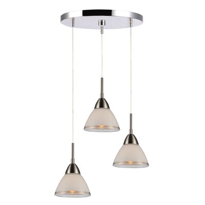 Lucia 3-Light Cascade Pendant Finish: Satin NIckel