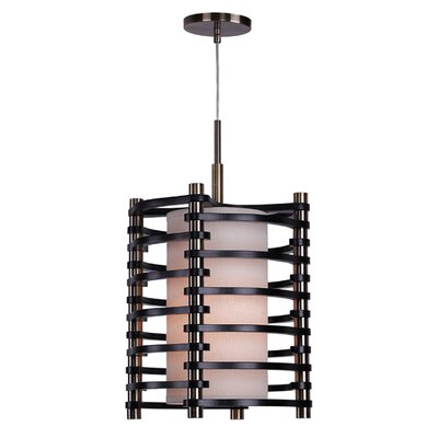 Steps 1-Light Foyer Pendant Finish: Brushed Bronze, Shade color: Espresso