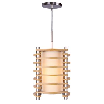 Steps 1-Light Foyer Pendant Finish: Satin Nickel, Shade color: Ash
