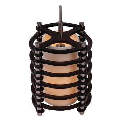 Steps 1-Light Foyer Pendant Shade color: Espresso, Finish: Satin Nickel