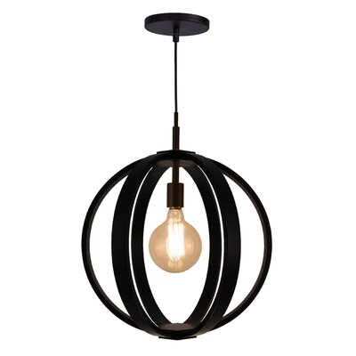 Celestial 1-Light Foyer Pendant Shade color: Wenge, Finish: Metallic Bronze