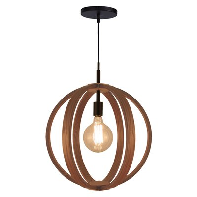 Celestial 1-Light Foyer Pendant Finish: Metallic Bronze, Shade color: Ash