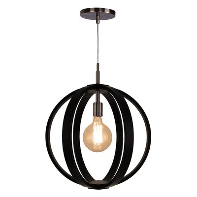 Celestial 1-Light Foyer Pendant Shade color: Wenge, Finish: Brushed Bronze