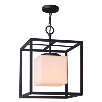 Jasper 1-Light Foyer Pendant Shade Size: 15.5