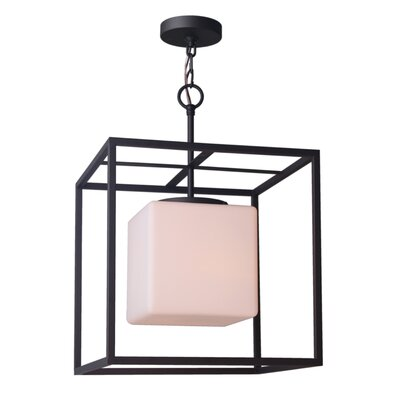 Jasper 1-Light Foyer Pendant Shade Size: 21.25 H x 15 W x 15 D