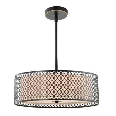 Ferrigno 3-Light Drum Pendant Finish: Bronze