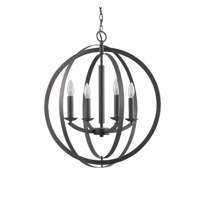 Lola 4-Light Globe Pendant Finish: Metallic Bronze