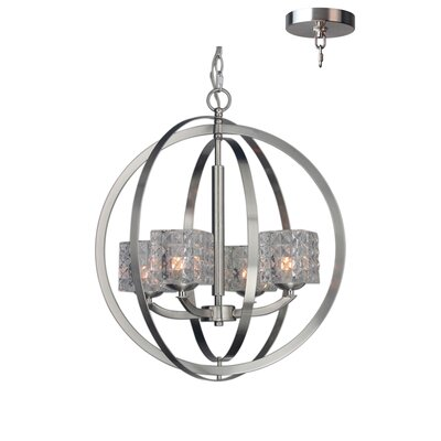 Mirage 4-Light Globe Pendant Finish: Satin Nickel