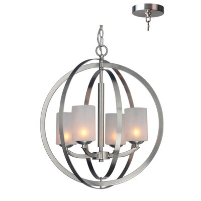 Mirage 4-Light Globe Pendant Finish: Satin Nickle