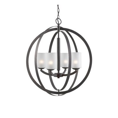 Mirage 4-Light Globe Pendant Finish: Metallic Bronze