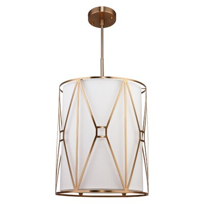 Regan 5-Light Foyer Pendant Finish: Vintage Brass
