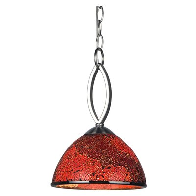Alexis 1-Light Mini Pendant Shade Color: Red