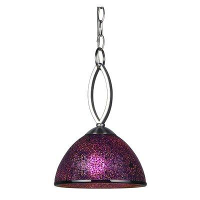 Alexis 1-Light Mini Pendant Shade Color: Purple