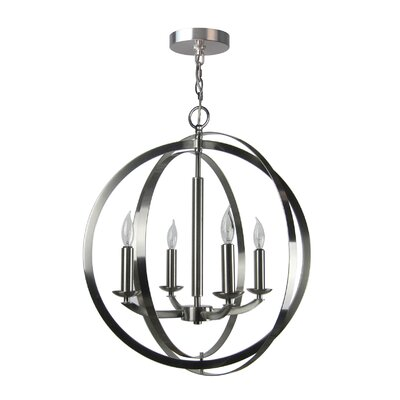 Dearmond 4-Light Globe Pendant Finish: Satin Nickel