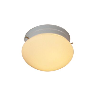 Basic 1-Light Flush Mount Finish: White
