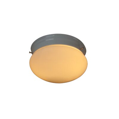 Basic 2-Light Flush Mount Finish: Marbled Bronze