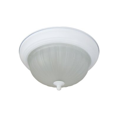 Basic 4-Light Flush Mount Finish: White