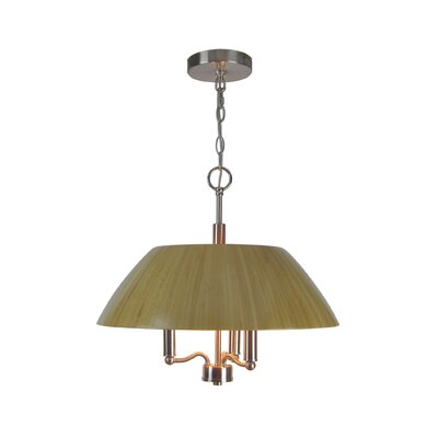 Sorg Bamboo 3-Light Pendant Finish: Satin Nickel