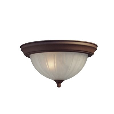 Basic 4-Light Flush Mount Finish: Antique Bronze