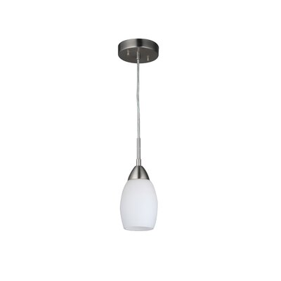 Murphy Modern 1-Light Mini Pendant Finish: Satin Nickel