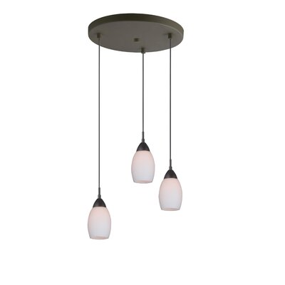 Murphy 3-Light Cluster Pendant Finish: Bronze