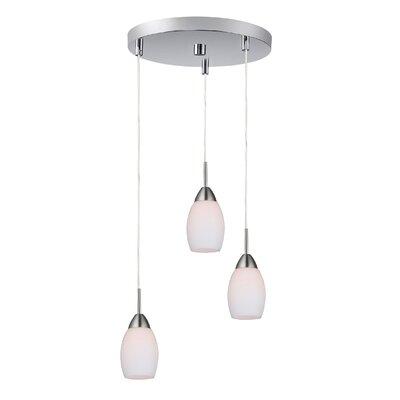 Murphy 3-Light Cluster Pendant Finish: Satin Nickel