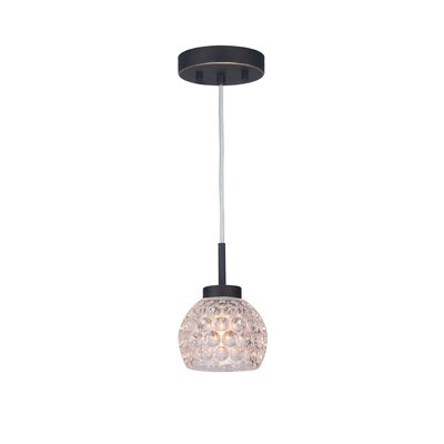 Sadowski 1-Light Glass Mini Pendant Finish: Metallic Bronze