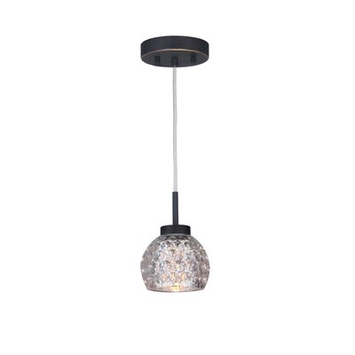 Sadowski Contemporary 1-Light Glass Mini Pendant Finish: Metallic Bronze