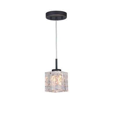 Sadowski 1-Light Metal/Glass Mini Pendant Finish: Metallic Bronze