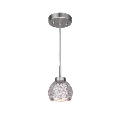 Sadowski Contemporary 1-Light Glass Mini Pendant Finish: Satin Nickel