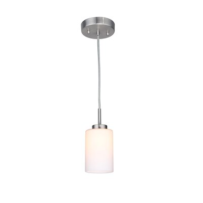 Sadowski 1-Light Mini Pendant Finish: Satin Nickel