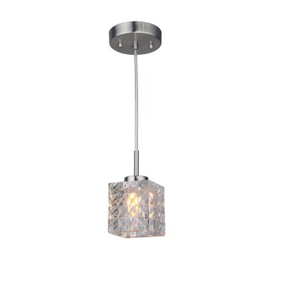 Sadowski 1-Light Metal/Glass Mini Pendant Finish: Satin Nickel